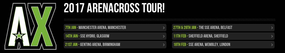 2017 ArenaCross UK Tour