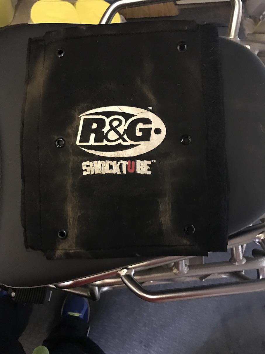 R&G ShockTube (BMW R1200GSA Front) following 600 miles  through the Welsh Rain in February 2017