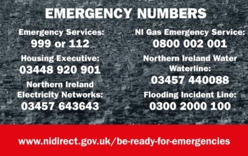 Northern Ireland Emergency Contact Numbers
