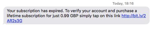 Whatsapp Scam Text Message