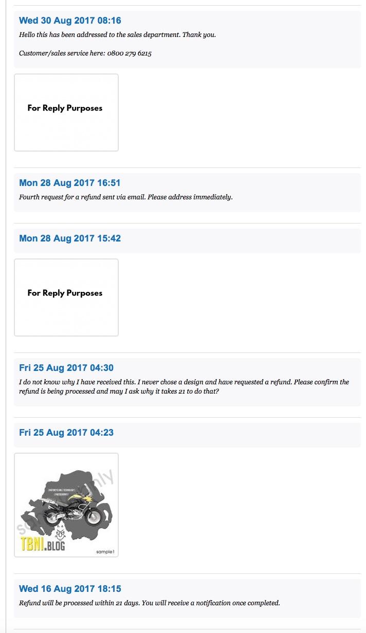 WebChat Chain Between Myself and LogoDesignGuarantee