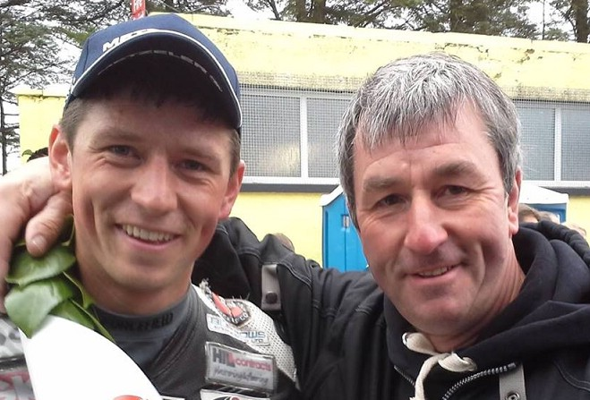 Dan Kneen pictured along with his father Richard.