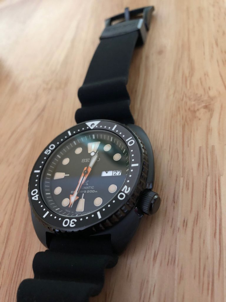 Seiko SRPC49J1 - Black Series - The 'Ninja Turle'