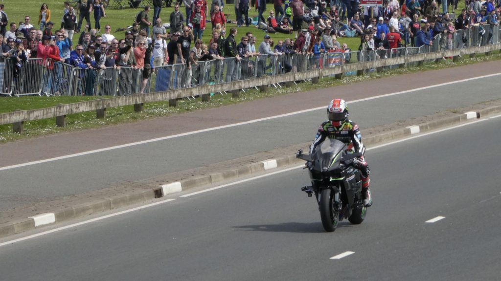 Superbike Champion Jonathan Rea popped over to the 2018 NW200 to have a parade lap and witness first hand the huge support he has from the Northern Irish road racing fraternity - at the 2018 NW2018 (19/05/2018)