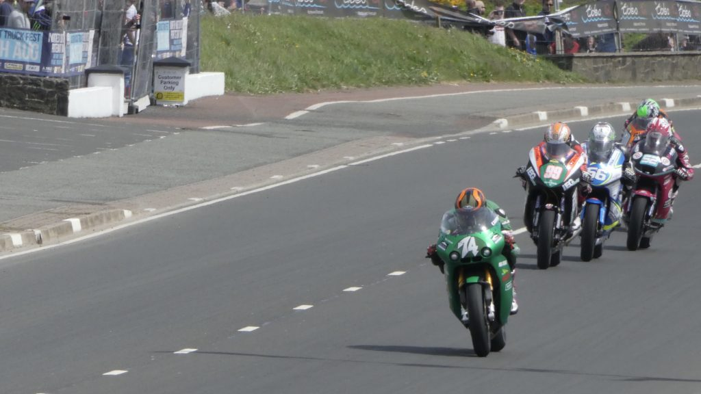 Joey Thompson flying again oh his Paton, getting chased down by Jeremy McWilliams, Adam McLean (before retirement), James Cowton and Martin Jesspo (before retirement) - at the 2018 NW2018 (19/05/2018)