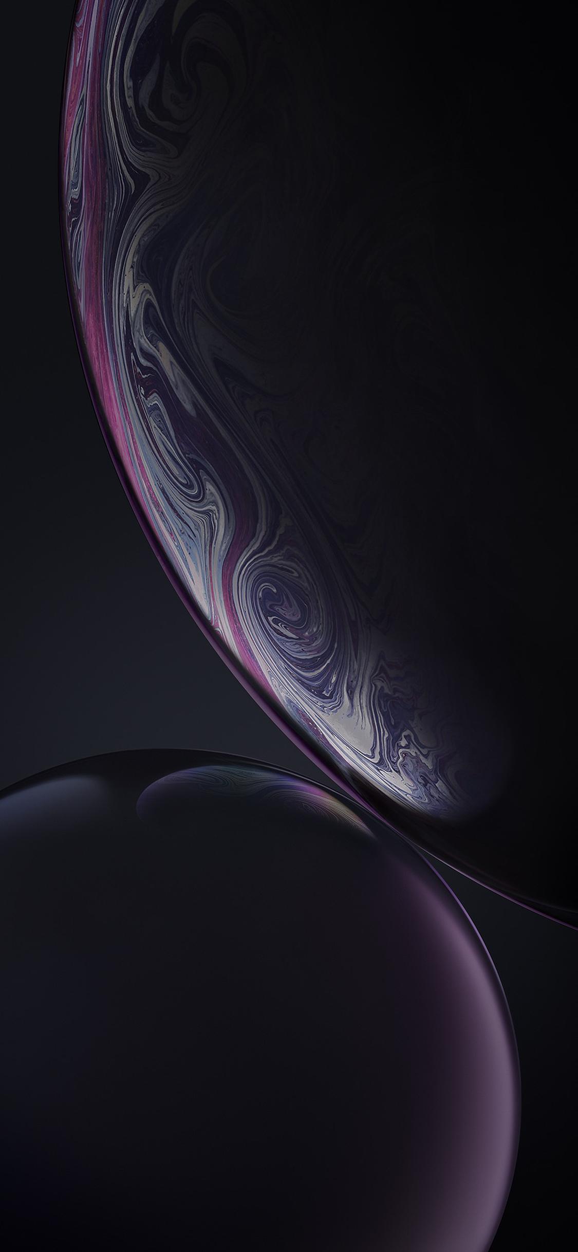 iPhone XR Black Bubbles Wallpaper