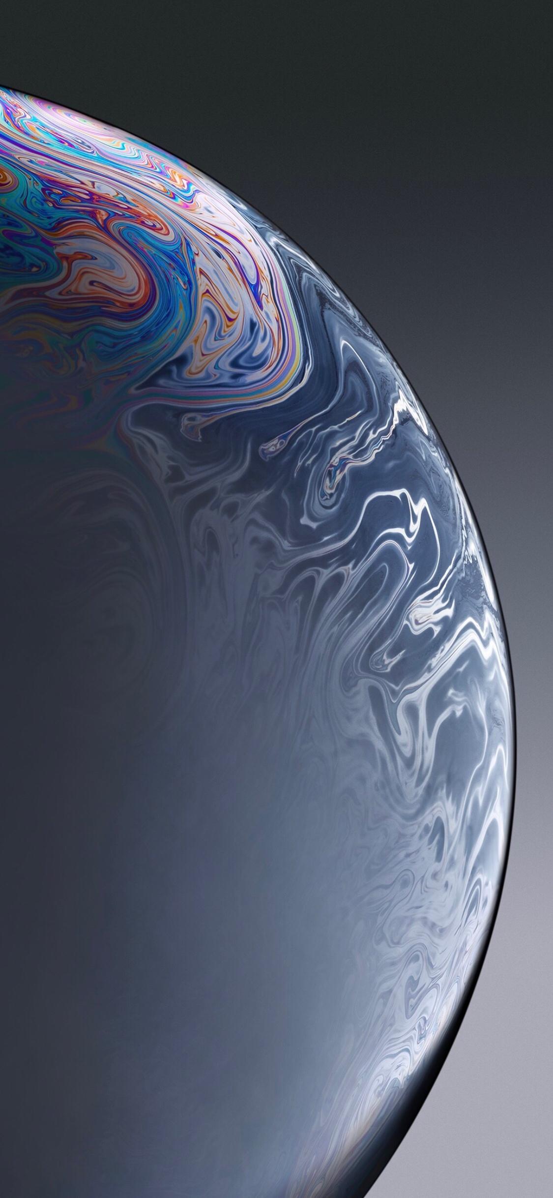 iPhone XR Black Bubble Wallpaper