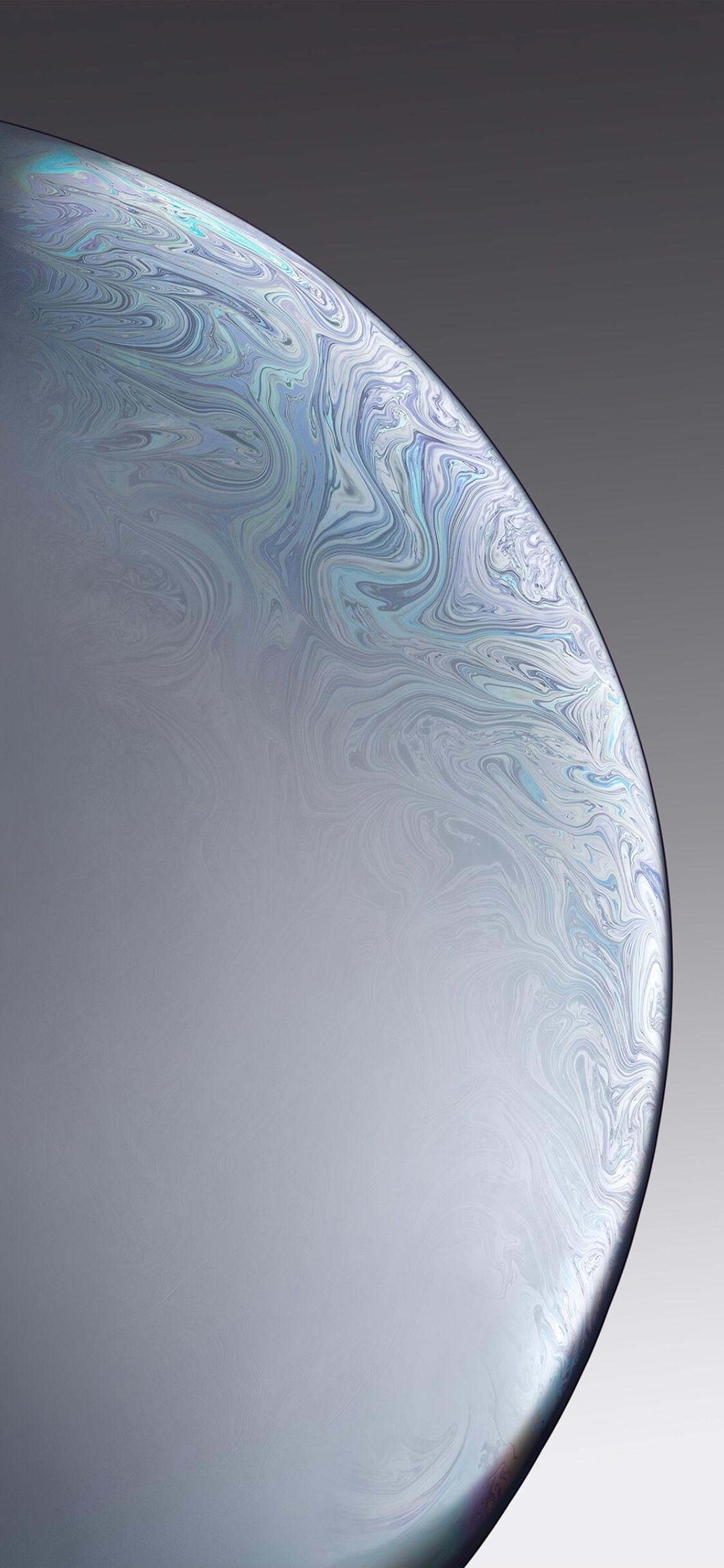 iPhone XR Silver Bubble Wallpaper