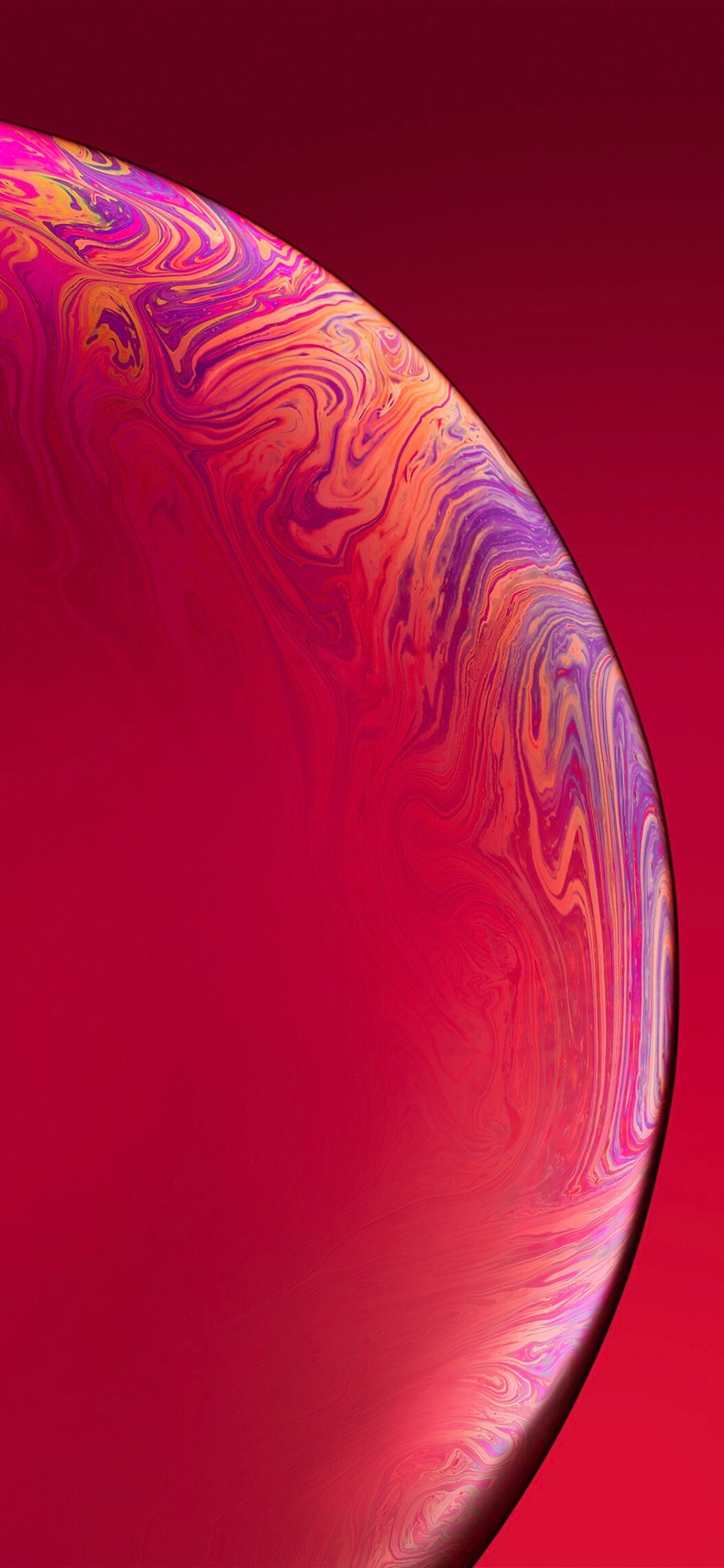 iPhone XR Red Bubble Wallpaper