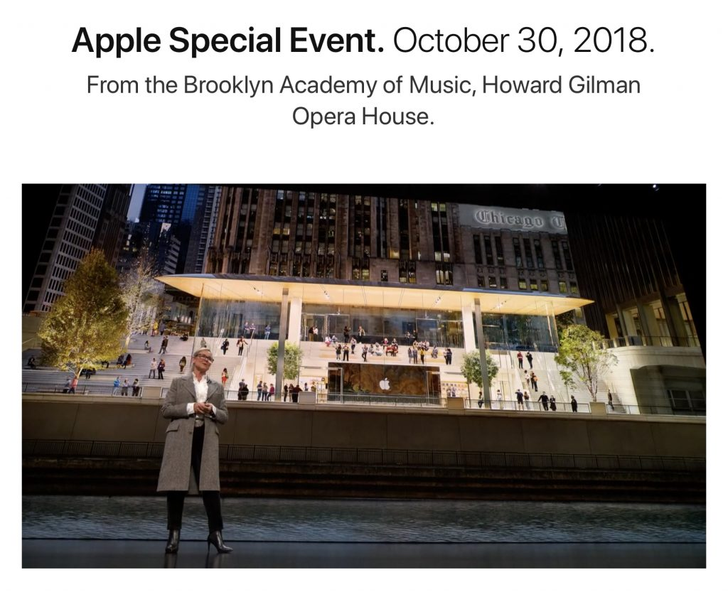Apple Retail and Sessions Update at October 2018 Apple Event