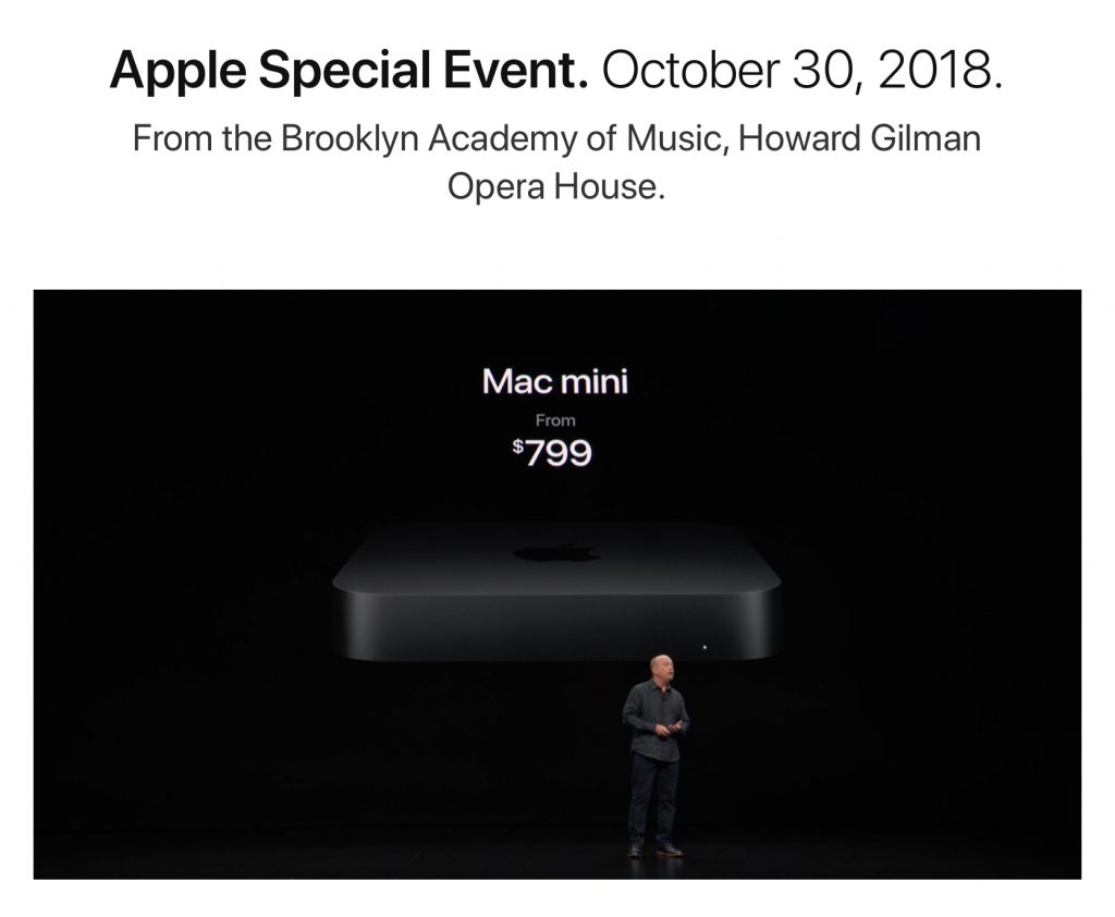 Apple Mac Mini gets a 2018 refresh.