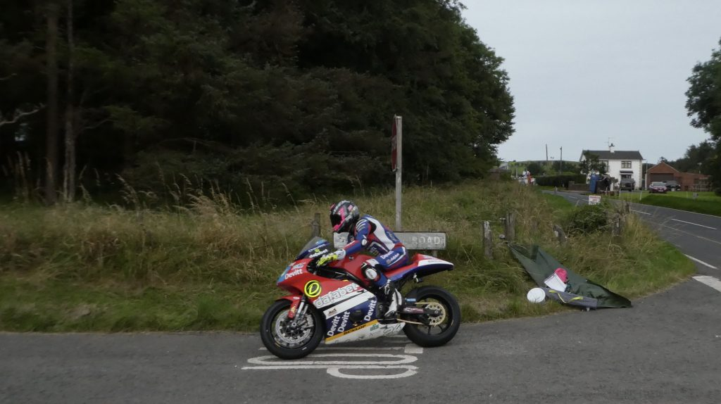 Paul Jordan on his Supertwins at the 2019 Ulster Grand Prix