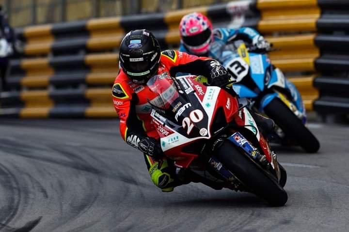 Davo Johnson takes third in a twice restarted 2019 Macau GP