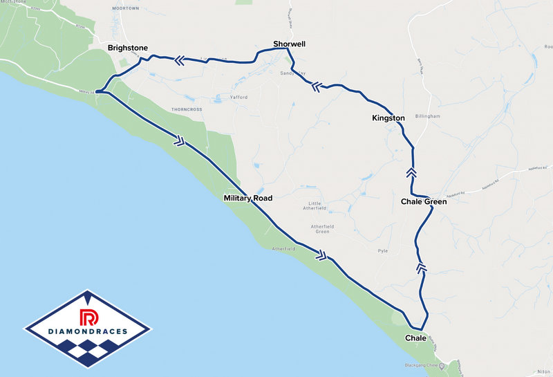 Isle of Wight Road Race - The Diamond Races - Course Map
