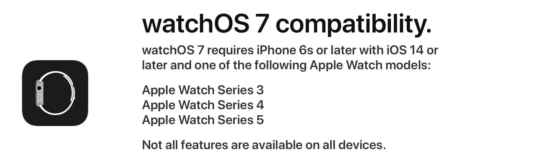 WatchOS 7 Compatibility