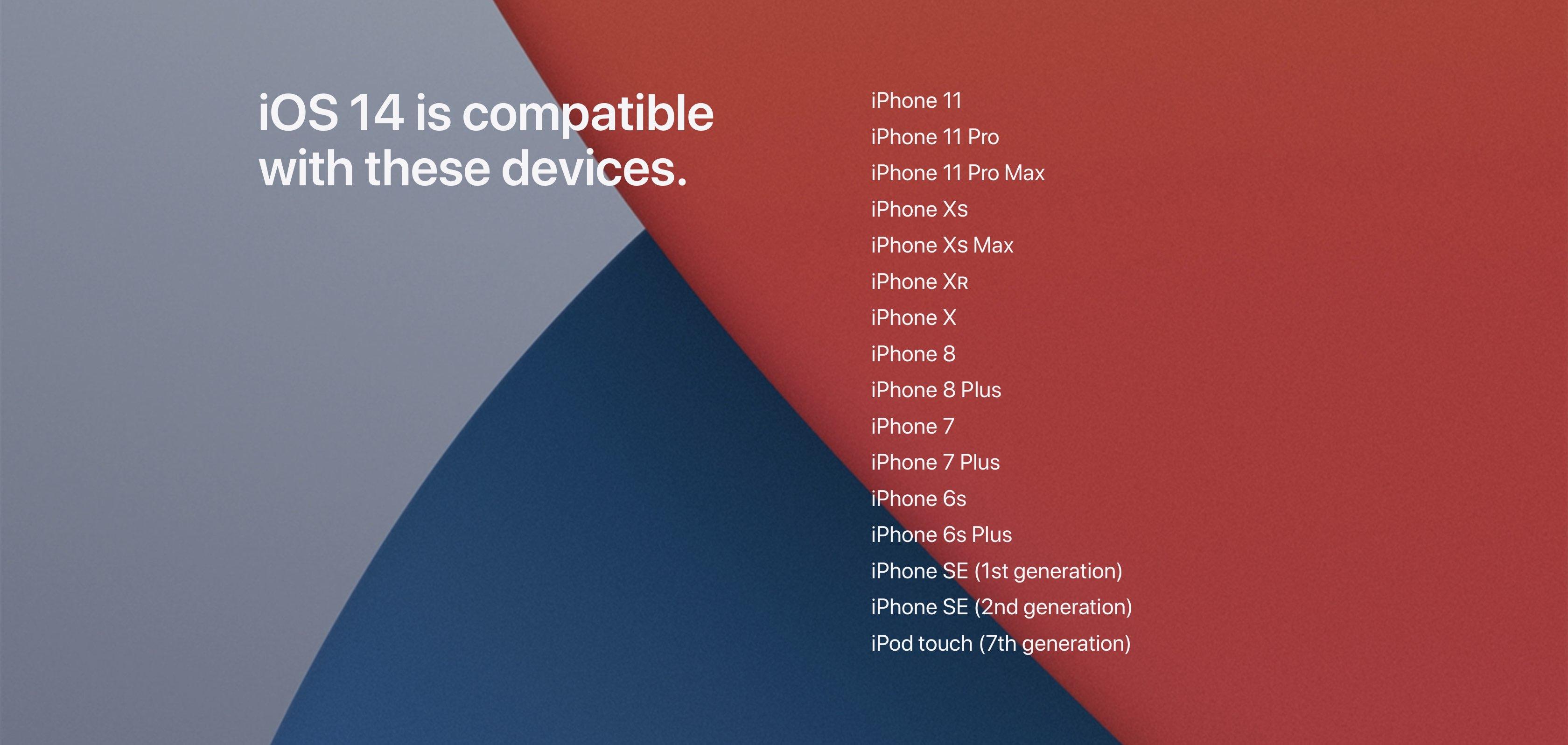 IOS 14 Compatability