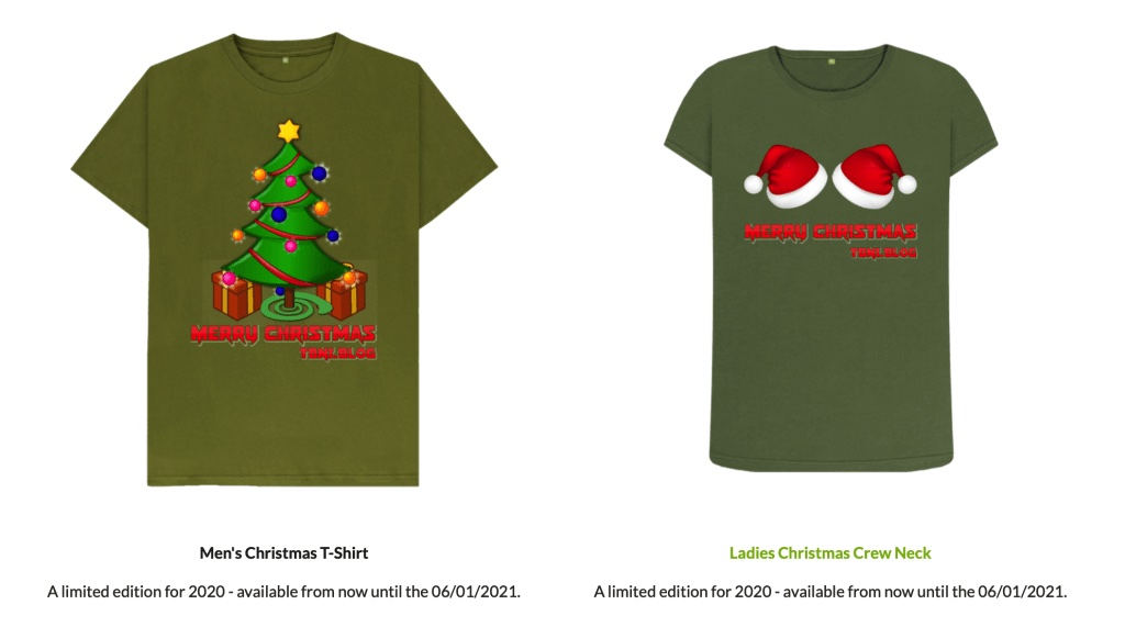 2020 TBNI.Blog Christmas T-Shirts Released