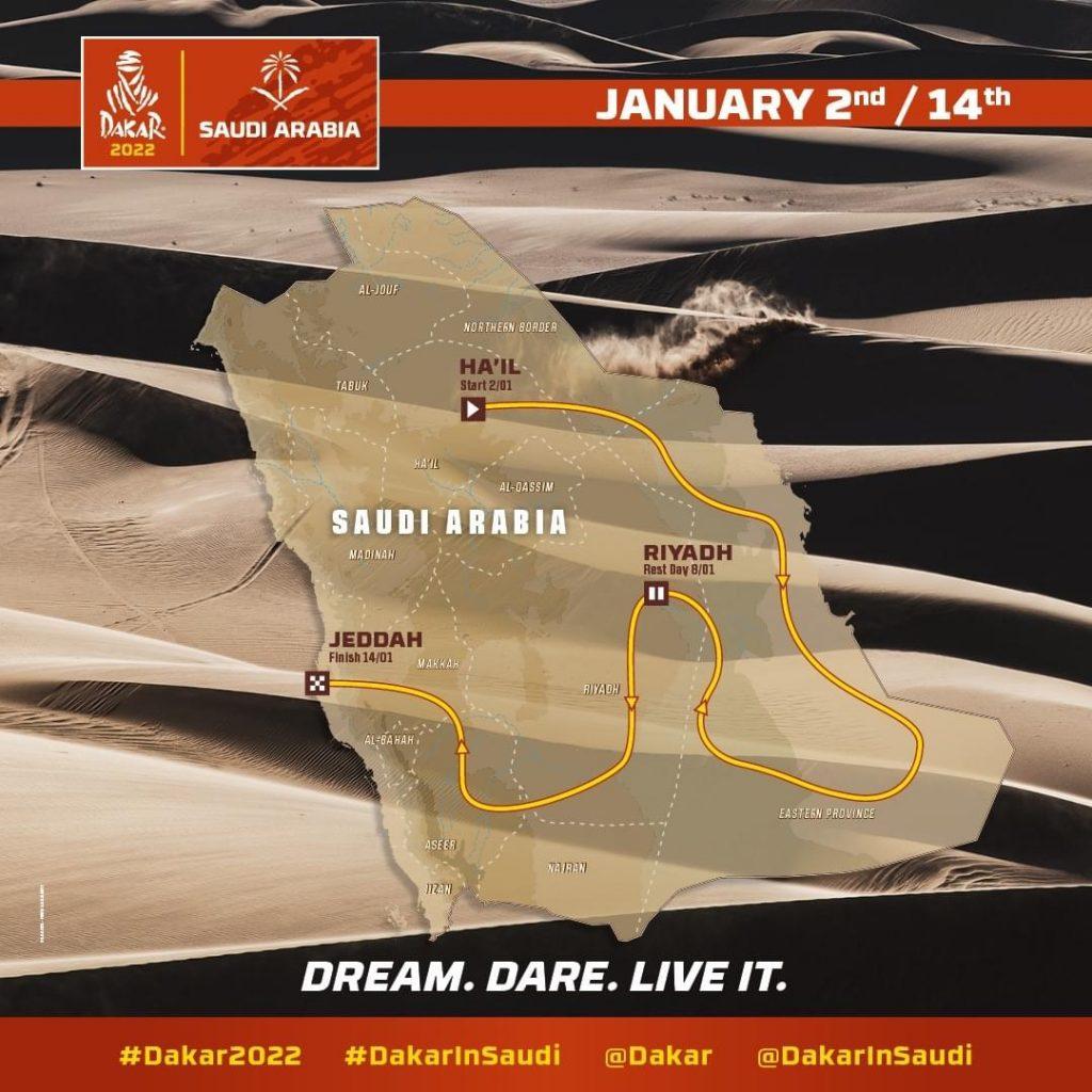 2022 Dakar Route